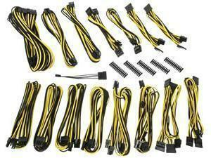 BitFenix Alchemy 2.0 PSU Cable Kit EVG-Series - Black And Yellow
