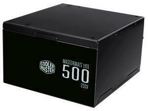 *B-stock item-90 days warranty*Cooler Master Masterwatt Lite 500W 80 PLus White Non-Modular PSU
