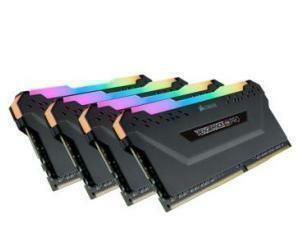 *B-stock item - 90 days warranty*VENGEANCE RGB PRO 128GB 4 x 32GB DDR4 DRAM 3600MHz C18 Memory Kit — Black