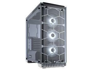 Corsair Crystal Series 570X RGB – Tempered Glass, Premium ATX Mid-Tower Case, WHITE