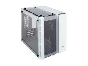 Corsair Crystal Series 280X Tempered Glass Micro ATX PC Case, White