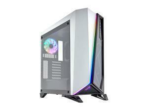 CORSAIR Carbide Series SPEC-OMEGA RGB Mid-Tower Tempered Glass Gaming Case, White