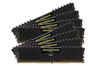 Corsair Vengeance LPX Black 128GB (8x16GB) DDR4 PC4-19200 2400 MHz Quad Channel Kit