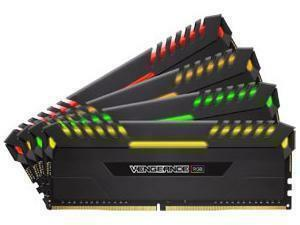 Corsair Vengeance RGB 32GB (4 x 8GB) DDR4 3200MHz Dual Channel Memory (RAM) Kit