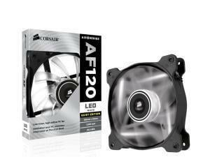 Corsair Air Series AF120 LED White Quiet Edition High Airflow 120mm Fan - Single Pack
