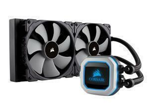 Corsair Hydro Series, H115i PRO RGB, 280mm Radiator, Dual 140mm ML Series PWM Fans, Advanced RGB Lighting and Fan Control with Software, Liquid CPU Cooler