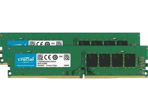 Crucial 32GB 2x16GB DDR4 2666MHz Dual Channel Memory RAM Kit