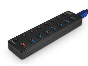 DYNAMODE 8 PORT USB3.0 HUB - BLACK