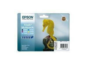 Epson T0487 Multipack Black, Cyan, Magenta, Yellow, Light Cyan, Light Magenta