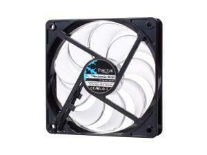 Fractal Design Silent Series ll 120mm Case Fan UNBOXED black frame clear blades white LED