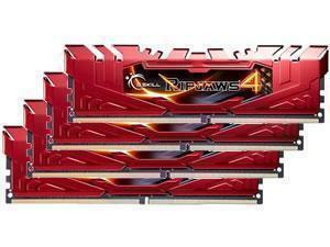 *B-stock item - 90 days warranty*G.Skill Ripjaws 4 Red 16GB 4x4GB DDR4 3000MHz Quad Channel Memory RAM Kit