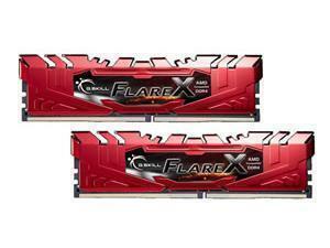 G.Skill Flare X 2400MHz 16GB (2 x 8GB Kit) DDR4 Memory - Red