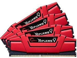 G.Skill Ripjaws V Red 16GB (4x4GB) DDR4 PC4-19200 2400MHz Dual Channel Kit (Skylake)