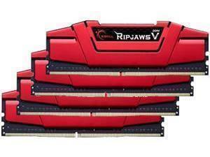 G.Skill Ripjaws V Red 32GB (4x8GB) DDR4 2400MHz Quad Channel Memory (RAM) Kit