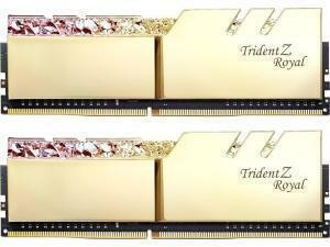 GSkill Trident Z Royal RGB Gold 16GB (2 x 8GB) DDR4 3200MHz Dual Channel Memory (RAM) Kit