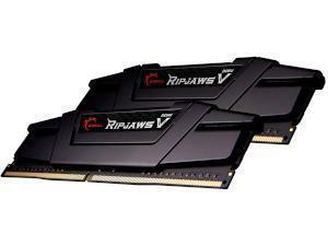 G.SKILL RIPJAWS V BLACK 16GB (2x8GB) DDR4 3200MHz Dual Channel Memory (RAM) Kit