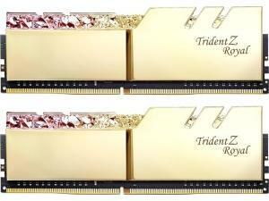 GSkill Trident Z Royal RGB Gold 16GB 2 x 8GB DDR4 3600MHz Dual Channel Memory RAM Kit