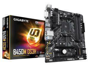 *B-stock item - 90 days warranty*Gigabyte B450M DS3H (rev. 1.0) AMD AM4 B450 Chipset Micro-ATX Motherboard