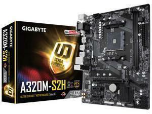 Gigabyte GA-A320M-S2H AMD AM4 A32 Chipset Micro-ATX Motherboard