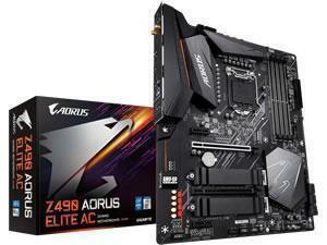 Gigabyte Z490 Aorus Elite AC LGA 1200 Z490 Chipset ATX Motherboard