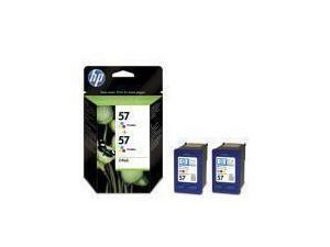 HP 57 Tri-Colour Ink Cartridge - 2 pack