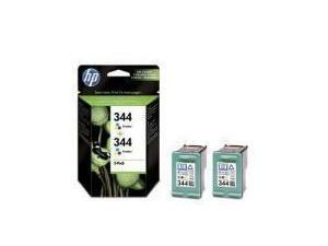 HP 344 Tri-Colour Ink Cartridge - Twin Pack