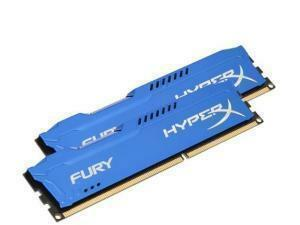 Kingston HyperX Fury Blue 8GB (2x4GB) DDR3 1600MHz Dual Channel Memory (RAM) Kit