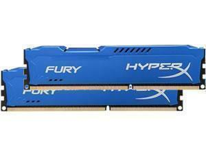 Kingston HyperX Fury Blue 16GB 2x8GB DDR3 PC3-14900 1866MHz Dual Channel Kit