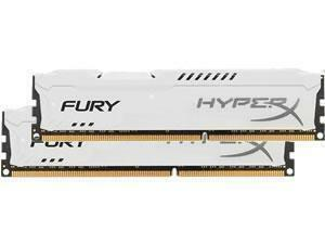 Kingston HyperX Fury White 8GB 2x4GB DDR3 1866MHz Dual Channel Memory RAM Kit