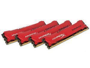 Kingston HyperX Savage 2133Mhz 32GB DDR3 RAM Red 4x8GB