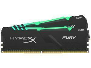 Kingston HyperX Fury RGB 16GB (2 x 8GB) DDR4 2400MHz Dual Channel Memory (RAM) Kit