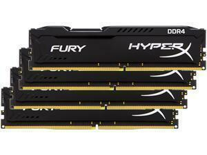 Kingston HyperX Fury Black 64GB (4x16GB) DDR4 PC4-19200 2400MHz Quad Channel Kit