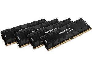 Kingston HyperX Predator 64GB (4x16GB) DDR4 3200MHz Quad Channel Memory (RAM) Kit