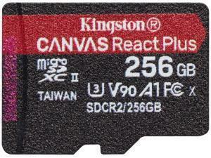 Kingston Canvas React Plus 256GB MicroSD Memory Card