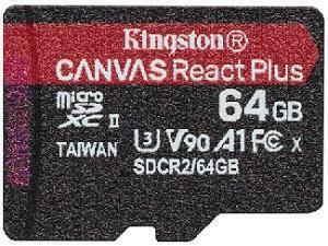Kingston Canvas React Plus 64GB MicroSD Memory Card