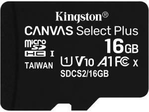 Kingston Canvas Select Plus 16GB MicroSD Memory Card