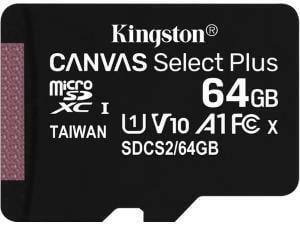 Kingston Canvas Select Plus 64GB MicroSD Memory Card
