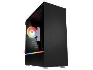 Kolink Bastion RGB Midi Tower Gaming Case - Black Window