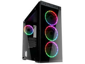 Kolink Horizon Midi Tower RGB Gaming Case - Black Tempered Glass