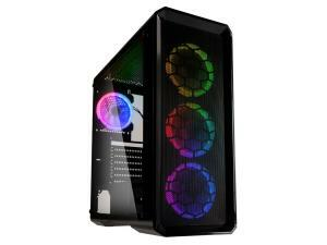Kolink Levante Midi Tower Airflow Gaming Case - Black Tempered Glass