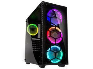 Kolink Observatory Midi Tower RGB Gaming Case - Black Tempered Glass Window