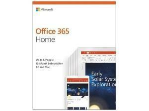 Microsoft Office 365 Home - 1 Year  - Box Pack - Medialess - Up to 6 Users