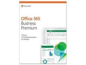 Microsoft Office 365 Business Premium - Box Pack - 1 User, 1 Year - Hosted - Medialess