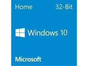 Windows 10 Home 32Bit English DVD - OEM