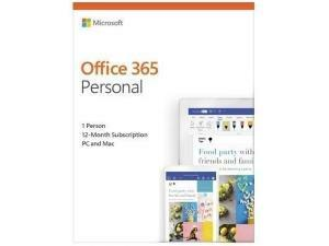 Microsoft Office 365 Personal - 1 Year, 1 User - Medialess - Box Pack