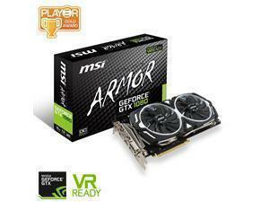 *B-stock item-90 days warranty*MSI GeForce GTX 1080 ARMOR OC 8GB GDDR5X Graphics Card