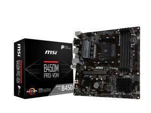 MSI B450M PRO-VDH V2 AMD AM4 B450 Chipset Micro-ATX Motherboard