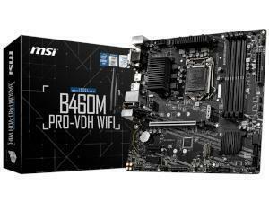MSI B460M PRO-VDH WIFI Intel B460 Chipset (Socket 1200) Motherboard