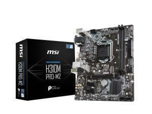 MSI H310M PRO M2 LGA1151 H310 Micro-ATX Motherboard