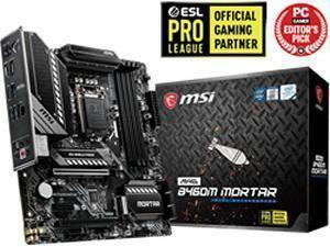 MSI MAG B460M Mortar LGA1200 B460 Chipset mATX Motherboard